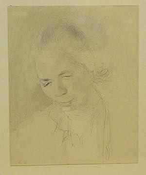 Porträt seiner Frau Sasha Morgenthaler. Bleistift-Zeichnung.: Morgenthaler, Ernst (1887-1962).
