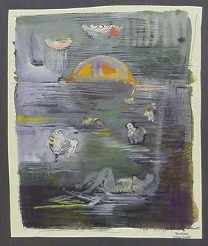 Träumende. Mischtechnik auf Bütten.: Dalvit, Oskar (1911-1975).
