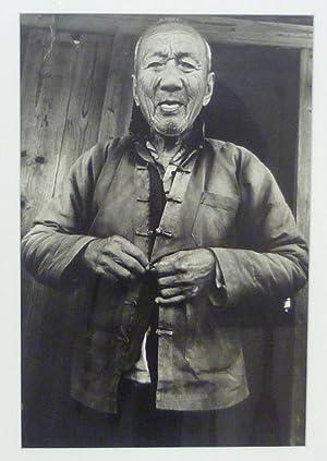Porträt eines 95jährigen. Originalabzug.: China. Originalfotografie.