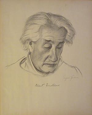 Albert Einstein. Original-Lithographie von Eugene Spiro.: Einstein, Albert /