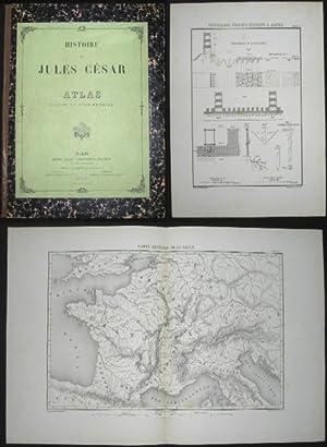 Histoire de Jules César. Altas (Cartes du tome premier).: Karten - (Napoleon III).
