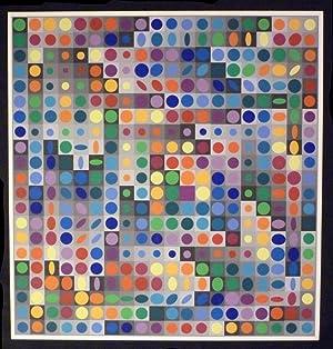 Planetarische Folklore. Original Farbsiebdruck.: Vasarely, Victor (1906-1997).