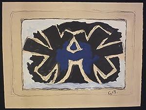 Oiseaux bleus. Farbige Original-Lithographie.: Braque, George (1882-1963).