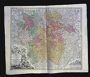 Mappa Geographica, in qua Ducatus Lotharingiae et: Karten. Lorraine /