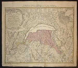 Novissima totius Lausonii sive Lemani lacus cum: Karten. Genfersee. Lac