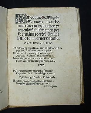 Bucolica. P. Virgilii Maronis cum verborum contextu: Alte Drucke -
