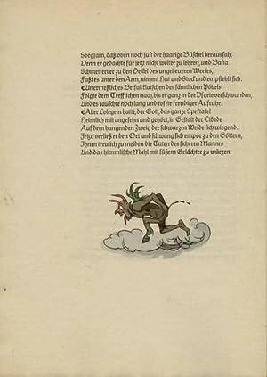 Das Märchen vom sichern Mann. (2 handkolorierte) Holzschnitte von Fritz Kredel.: Kredel - ...