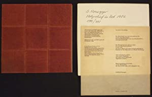 Holzrelief in Rot.: Honegger, Gottfried.