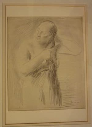 Nach dem Bade. Bleistiftzeichnung.: Gimmi, Wilhelm (1885-1986).