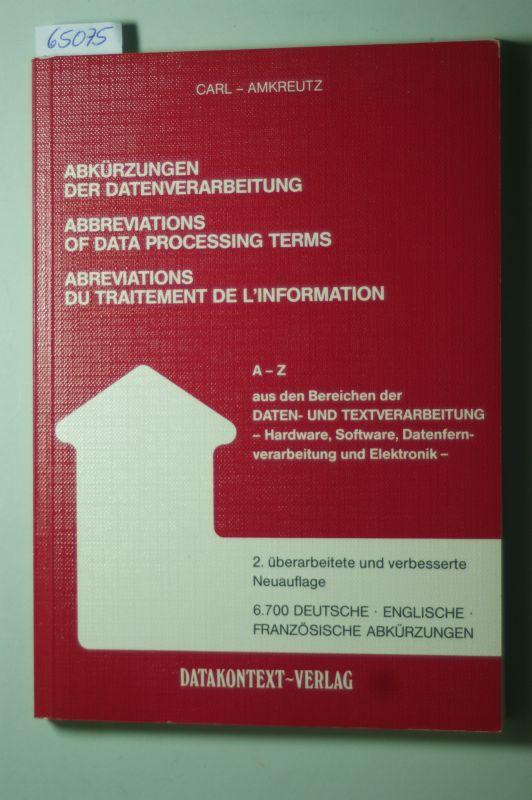 Abkürzungen Der Datenverarbeitung Deutsch Englisch Französisch
