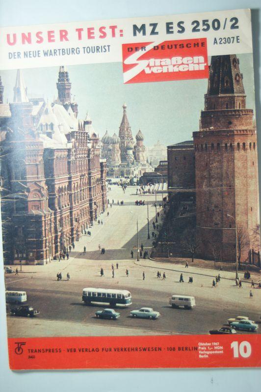 Zeitung Der deutsche Straßenverkehr 10/1967 DDR: Transpress: