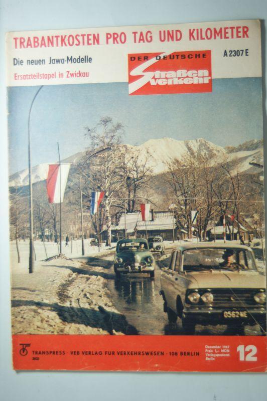 Zeitung Der deutsche Straßenverkehr 12/1967 DDR: Transpress: