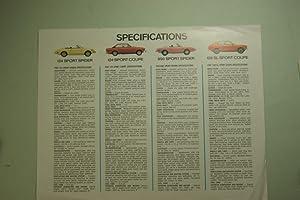 Infoblatt Fiat Specifications 124 Special Station Wagon: Fiat: