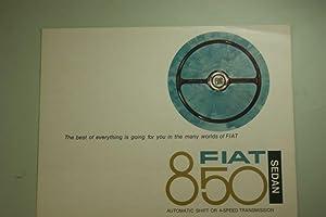 Faltblatt Fiat 850 USA 1967: Fiat: