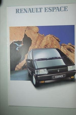 Faltblatt Renault Espace 1989: Renault: