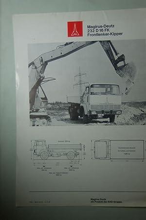 Infoblatt Magirus-Deutz 232 D 16 FK 1971: Magirus-Deutz: