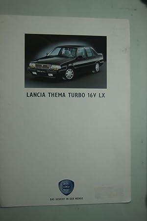 Faltblatt Lancia Thema Turbo 16V LX 1991: Lancia: