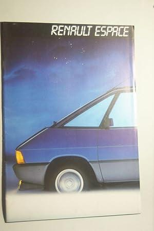 Prospekt Renault Espace aus den 1980igern: Renault: