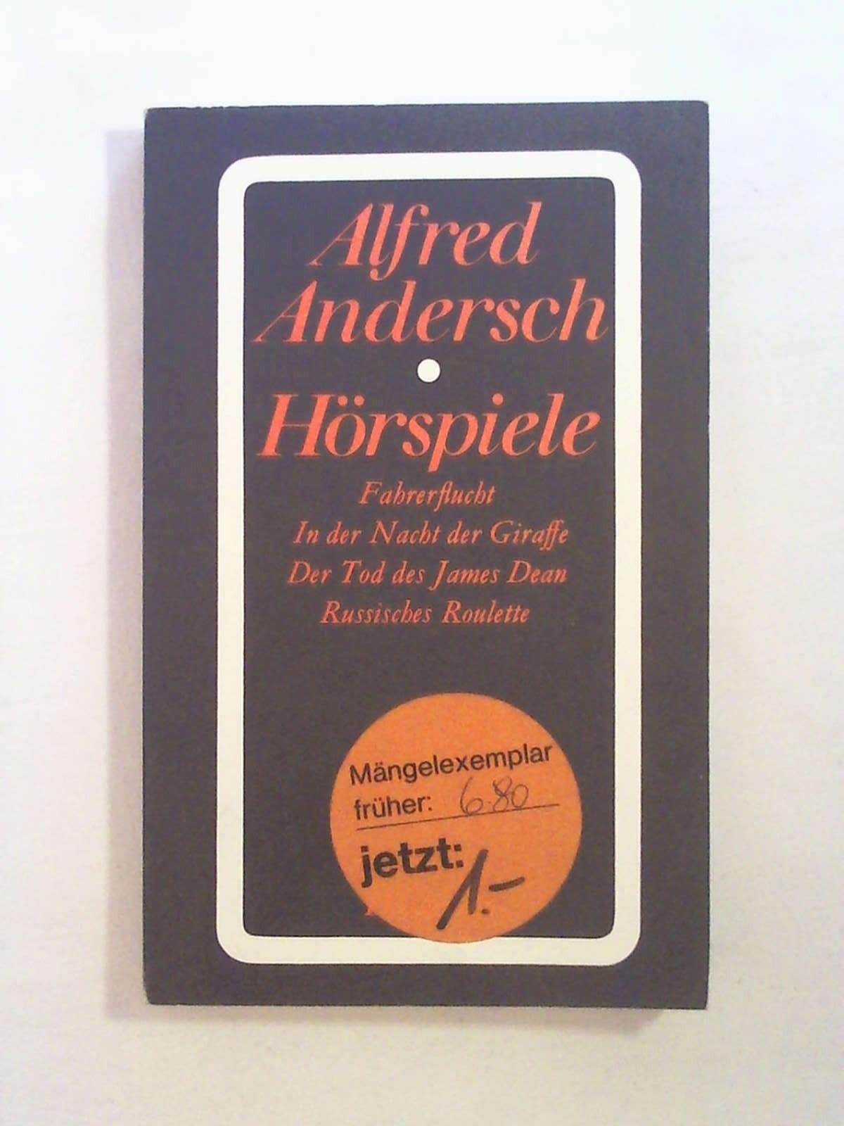 Horspiele: Alfred Andersch