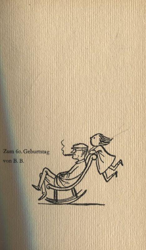 Gedichte und Geschichten Zum 60. Geburtstag von: Brecht, Bertolt:
