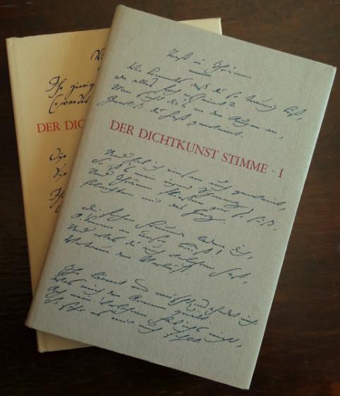 Der Dichtkunst Stimme. Einführungen in deutsche Gedichte. 2 Bände.