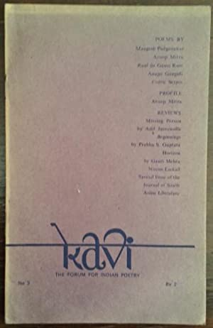 Kavi Nr. 3. The Forum for Indian Poetry.