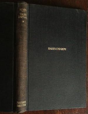 Italien und Rom. Band 1: Die Grundlagen.: Altheim, Franz: