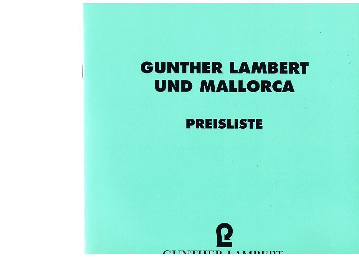 gunther lambert und mallorca von lambert zvab. Black Bedroom Furniture Sets. Home Design Ideas
