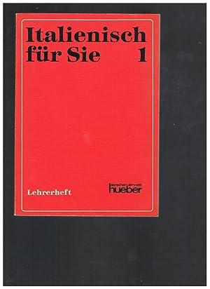 Italienisch für Sie Bd.1, Lehrerheft: Augusto Carli