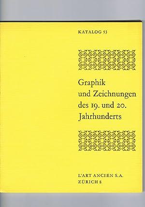 Graphik Und Zeichnungen Des 19. Und 20.: L' Art Ancien