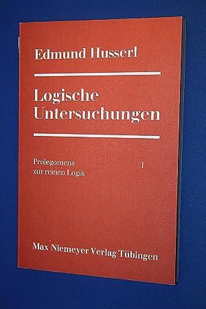 Edmund Husserl ; Logische Untersuchungen ; Prolegomena: Husserl ; Edmund