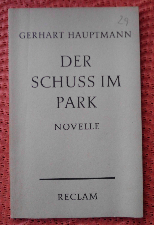 Der Schuss im Park: Novelle: Gerhart Hauptmann
