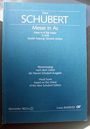 Messe in As: Mass in A flat: Noten] Schubert, Franz