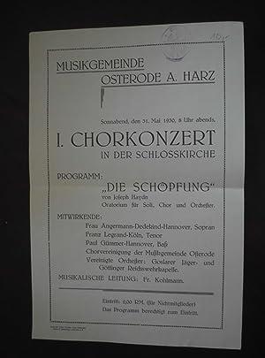 Sonnabend, den 31. Mai 1930, 8 Uhr: Fr. Kohlmann (Musikalische