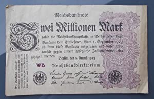 Reichsbanknote Zwei Millionen Mark, 9. August 1923