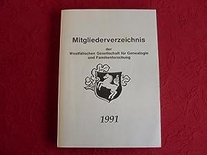 MITGLIEDERVERZEICHNIS DER WESTFÄLISCHEN GESELLSCHAFT FÜR GENEALOGIE UND: 65503 Häming, Josef