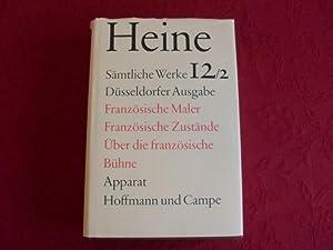 HEINE* Sämtliche Werke 12/2. Düsseldorfer Ausgabe. Kurzbeschreibung: 64199 Heine, Heinrich;
