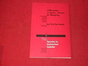 SPRACHE IM TECHN. ZEITALTER* Oktober 2003. Willkommen: 17215 Höllerer, Walter;