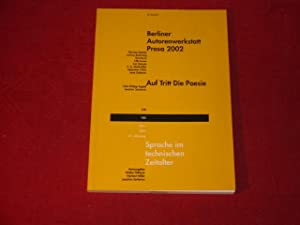 SPRACHE IM TECHN. ZEITALTER* März 2003. Berliner: 17213 Höllerer, Walter;