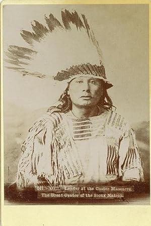 ORIGINAL PHOTOGRAPH OF CHIEF GALL, A HUNKPAPA DAKOTA INDIAN: CROSS, WILLIAM R.