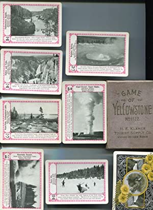 CARD GAME. GAME OF YELLOWSTONE (NO. 1122). DESCRIPTIVE OF THE YELLOWSTONE NATIONAL PARK.: THE ...