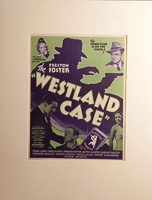 THE WESTLAND CASE. ORIGINAL ONE-SHEET MOVIE POSTER.: LATIMER, JONATHAN.
