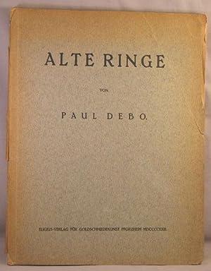 Alte Ringe: Paul Debo, editor; Goldschmiedekunst Pforzheim