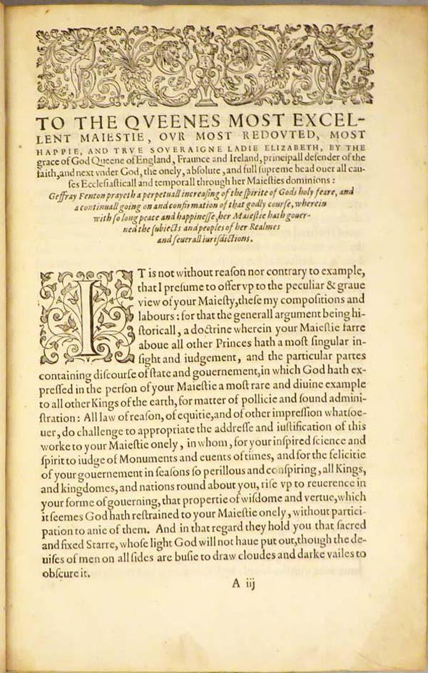 HISTORIE OF GUICCIARDIN: CONTAINING THE WARRES OF ITALIE AND OTHER PARTES, Continued For Manie ...