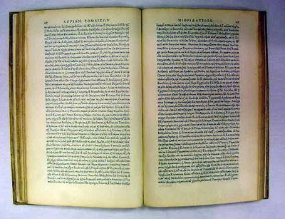 ROMANARUM HISTORIARUM [libri] (Ed. Robert & Charles Estienne) [Title in Greek]: Appian of ...