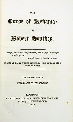 CURSE OF KEHAMA: Southey Robert