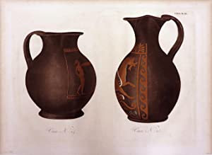VASE N. 24 [and] VASE N. 25 [An Original Colour Aquatint Plate From] Collection Des Vases Grecs by ...