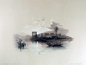 Island of PHILAE on the nile [Showing the Temple Compound at Sunset, Being an Original ...