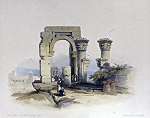 RUINED TEMPLE ON THE ISLAND OF BIGGE, NUBIA [Being an Original Hand-Coloured Lithograph From] THE ...