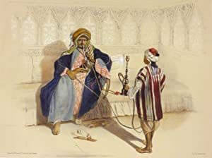 """Arab Sheikh Smoking"""" [A single Lithographic Print from ORIENTAL ALBUM, Characters, Costumes ..."""